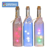 28cm Frosted Starlight LED Bottles - 3 Assorted