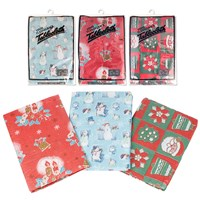 "52""x 70"" Festive Design Table Cloth - 3 Assorted"
