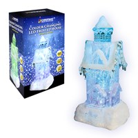 Colour Changing LED Water & Glitter Xmas House