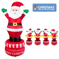 180CM Rotating Inflatable Santa
