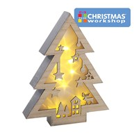 LED Wooden Christmas Tree