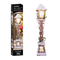 85cm LED Snow Tipped Wood Lamp Post