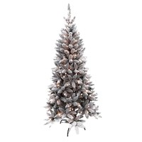 6FT Flock Pre-Lit LED Pine tree