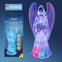 Colour Changing LED Water & Glitter Angel