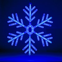 60cm Blue/White LED Snowflake Window Light