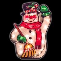 59cm Snowman Silhouette Light