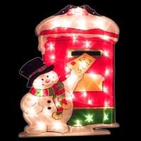 Snowman/Postbox Silhouette