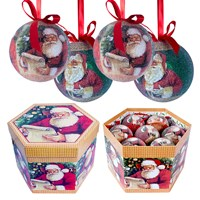14pc Santa Decoupage Bauble