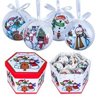 14pc Snowmen Decoupage Bauble