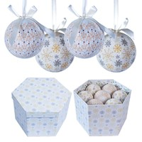 14pc Frost Decoupage Bauble