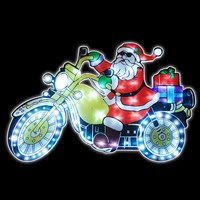 Santa-Bike Moving Silhouette