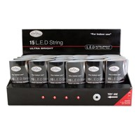 15 Red LED Battery Operated Lights