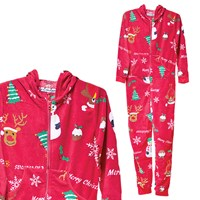 Red Christmas Icon Print Onesie