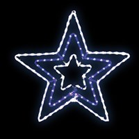 5m LED Blue/White Star Rope Light