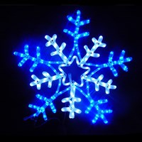 9M LED Blue/White Snowflake Rope Light Silhouette