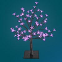 45CM 48 LED Blossom Tree - Purple