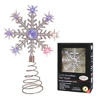 B/O Colour Changing LED Snowflake Tree Topper
