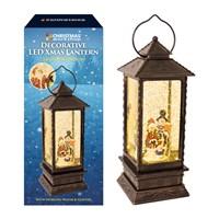 LED Water & Glitter Antique Lantern - 2 Assorted
