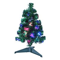 60cm/2ft Green Fibre Optic Xmas Tree