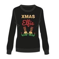 Knitted Sequin Xmas Elfies Ladies Jumper