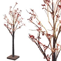 1.2m LED Snowy Berry Tree- W.White