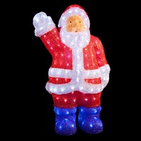 60cm 200 Wht LED Acrylic Santa