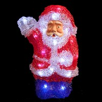 22cm Battery Operated Acrylic Santa