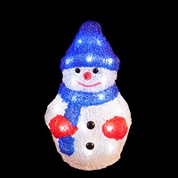 22cm Battery Operated Acrylic Snowman