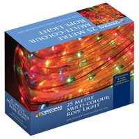 25M Multi-Coloured Chaser Rope Light
