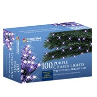 100 LED Purple Chaser Lights