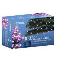 100 LED Pink Chaser Lights
