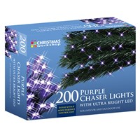 200 LED Purple Chaser Lights