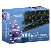 200 LED Purple Chaser Lights