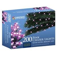 200 LED Pink Chaser Lights