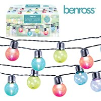50 Retro Party String Lights Multi-Colour