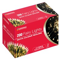 200 Shadeless Clear Fairy Lights