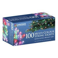 100 Multi Colour LED String Lights