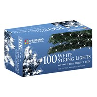 100 Cool White LED String Lights