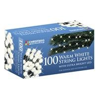 100 Warm White LED String Lights