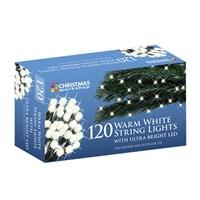 120 Warm White LED String Lights