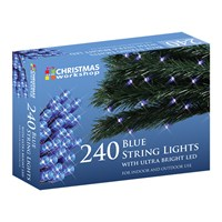 240 Blue LED String Lights