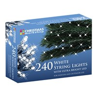 240 White LED String Lights