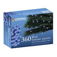 360 Blue LED String Lights