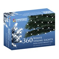 360 White LED String Lights