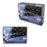 480 Bright White LED String Lights
