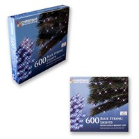 600 Blue LED String Lights