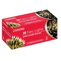20 Shadeless Clear Fairy Lights