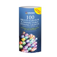 100 LED Connectable Lights- Multi Coloured