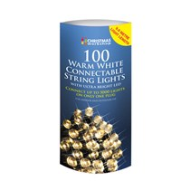 100 LED Connectable Lights - W.White