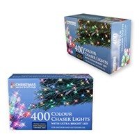 400 LED Multi Coloured Chaser Lights